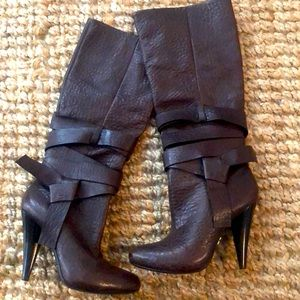 Bcbg leather boots!